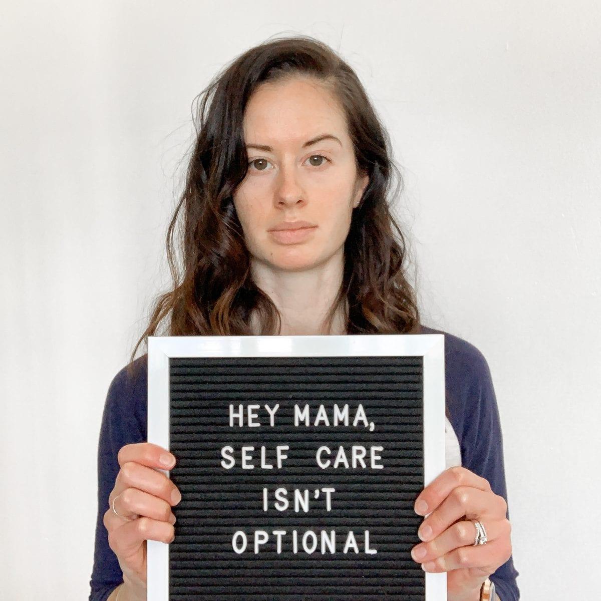 Self care isn't optional