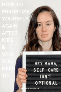 Self care advice for moms