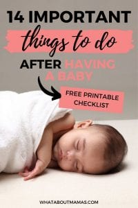 things to do after having a baby